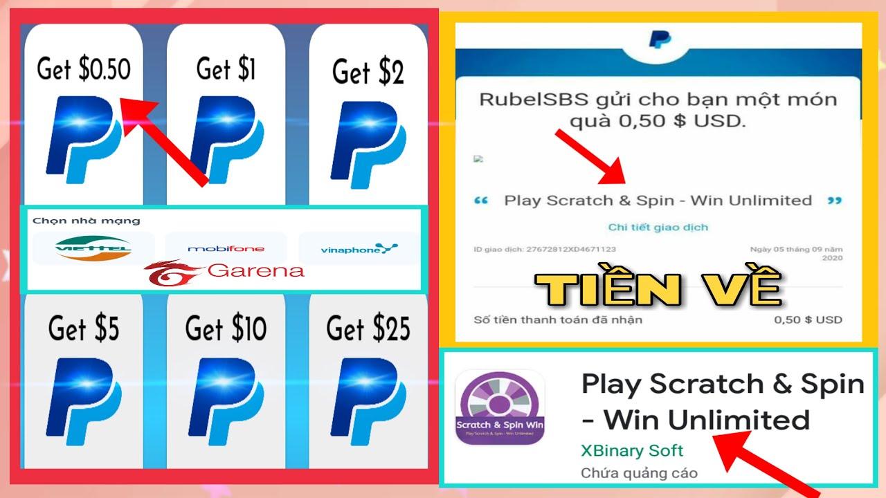 App Mới Kiếm Paypal Min Rút 0.5$ Đã Rút | Kiếm Tiền Online