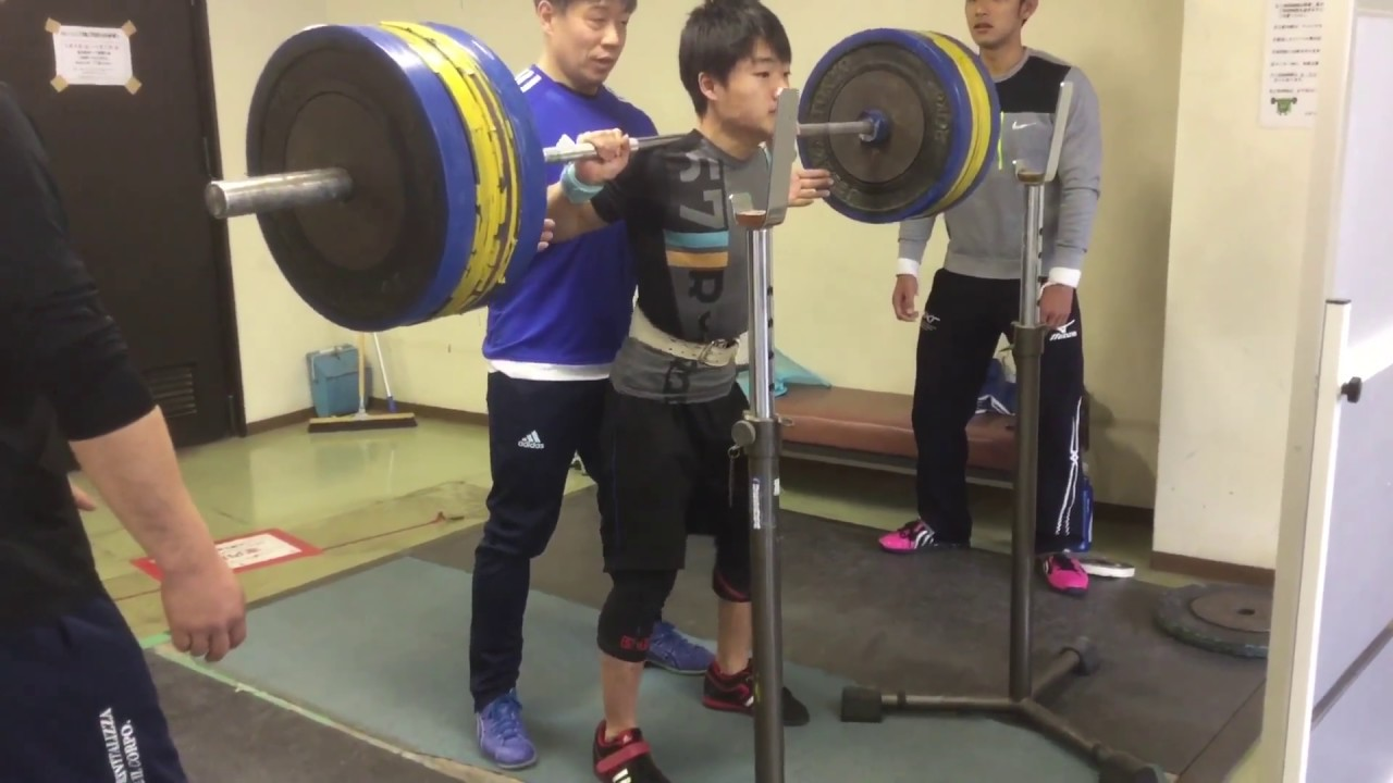 スクワット165キロ 53kg級高校チャンピオン 平井海斗選手