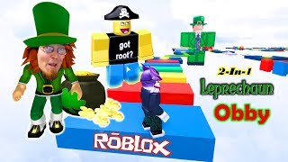 How to Catch a Leprechaun and Escape a Leprechaun- Roblox St. Patrick's Day Special! 2 Obby's in 1