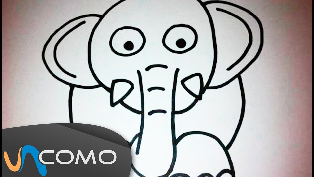 Dibujar un elefante paso a paso youtube for Comedor facil de dibujar