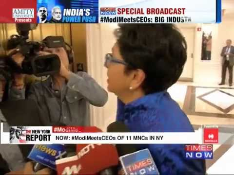 Pepsi Co CEO Indra Nooyi  'Modi very focussed on improving India'