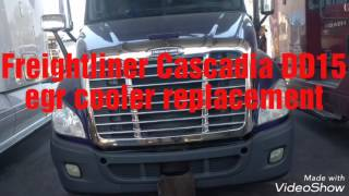 freightliner cascadia dd15 engine egr cooler replacement