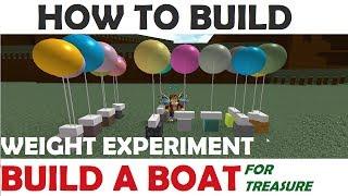 Roblox Construire un bateau pour le trésor - Peser des blocs