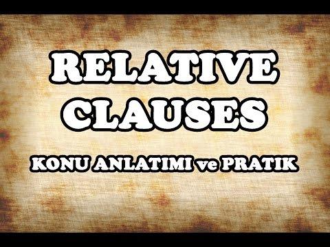 34 - Relative Clauses Konu Anlatımı ve Pratik - İngilizce Gramer