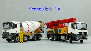 Conrad Putzmeister M38-5 Concrete Pump and P9G UL Truck Mixer by Cranes Etc TV