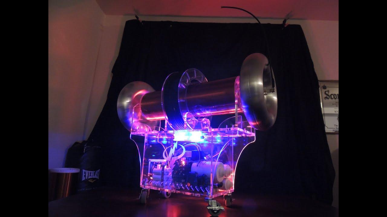 Mini Museum Tabletop Bi Polar Musical Tesla Coil Demo Youtube