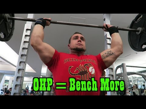 Overhead Press = STRONGER Bench Press<a href='/yt-w/vrmsY_5vYAo/overhead-press-stronger-bench-press.html' target='_blank' title='Play' onclick='reloadPage();'>   <span class='button' style='color: #fff'> Watch Video</a></span>
