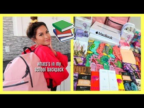 What's In My School Backpack + HUGE BACK TO SCHOOL GIVEAWAY 2018!