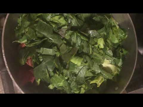 How to Cook and clean the best Collard Greens Ever!  (You can substitute the meat) Cookmas Day 9!