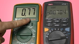 Тест точности лучшего мультиметра для ремонта.