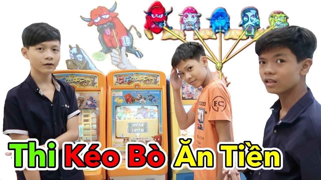 Lâm Vlog – Thử Thách Kéo Bò Ăn Tiền | Kéo Bò Siêu Thị AEON Nhật Bản | Trò Chơi Game Kéo Bò