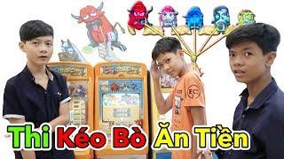 Lâm Vlog - Thử Thách Kéo Bò Ăn Tiền   Kéo Bò Siêu Thị AEON Nhật Bản   Trò Chơi Game Kéo Bò
