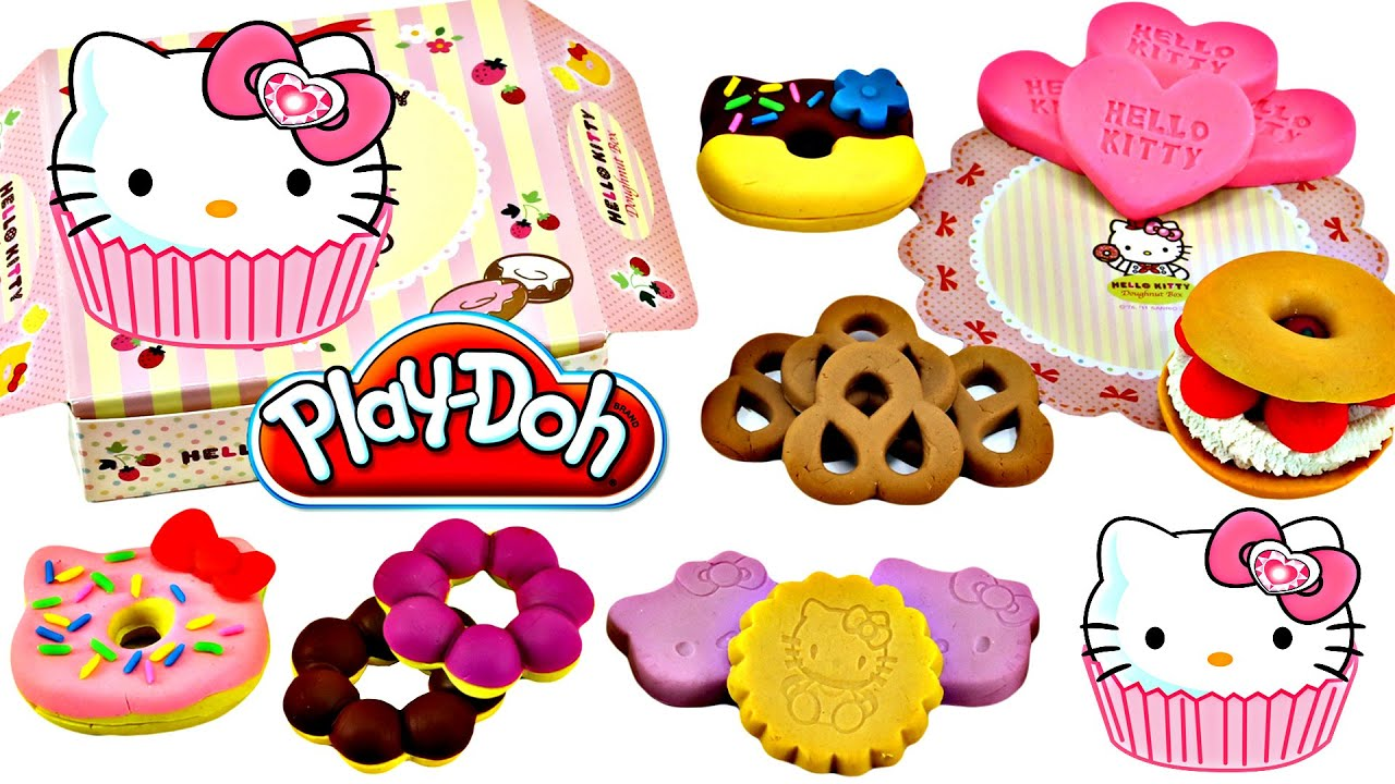 Play Doh Hello Kitty Bakery Shop Playset Donuts Cookies