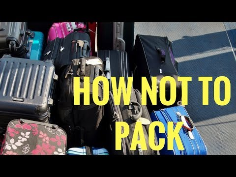How Not To Pack For Extended Travel or Moving Abroad (In My Opinion)