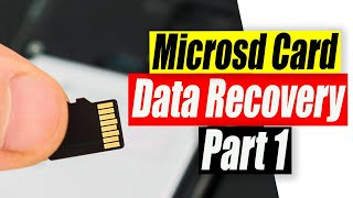 Micro SD Card Data Recovery Part 1