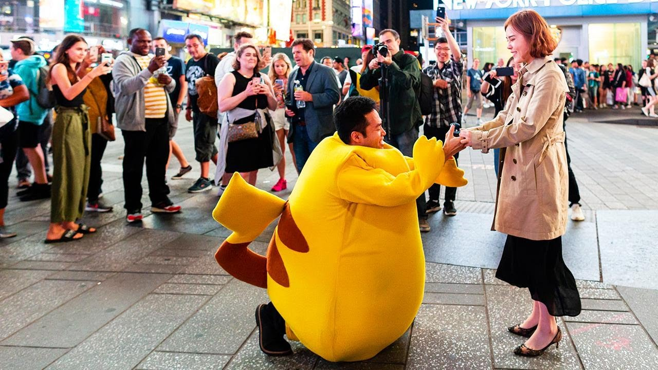 This Man Dressed Up as Pikachu to Propose