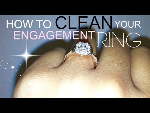 How to clean your engagement/wedding ring AT HOME! | Francis Martinez