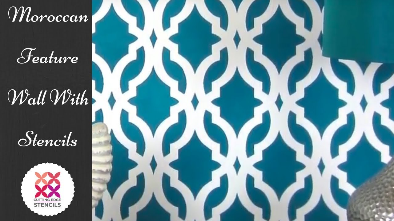Moroccan inspired accent wall using stencil pattern tamara youtube moroccan inspired accent wall using stencil pattern tamara amipublicfo Image collections