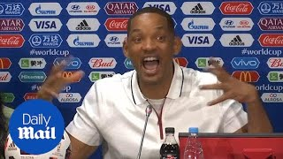 Boisterous Will Smith puts on a 'show' at World Cup presser - Daily Mail