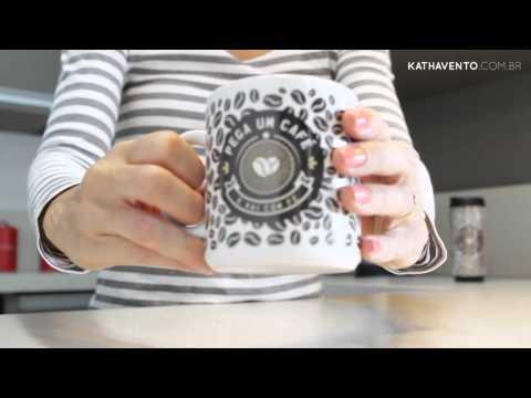 Caneca Branca - CAFÉ COM FÉ