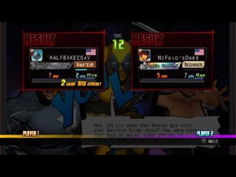 I Cant Laugh, Nani Red, Halfbaked Ultimate| ULTIMATE MARVEL VS. CAPCOM 3 |