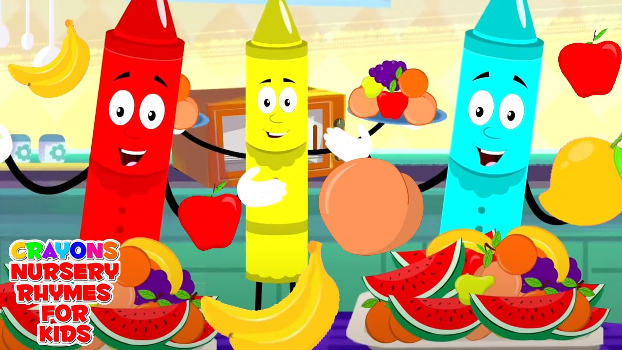 Fruits Song   Learn Fruits For Kids   Crayons Nursery Rhymes and Kids Songs