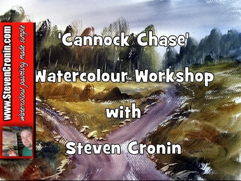 Cannock Chase Watercolour Landscape Painting Demonstration