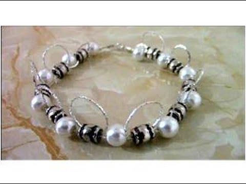 3906ba8d91ff Pulseras bracelets de perlas y cadenas de plata fina