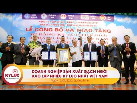 Kyluc.tv| Doanh nghiệp sản xuất gạch ngói đất sét nung xác lập nhiều Kỷ lục nhất Việt Nam 12/09/2020