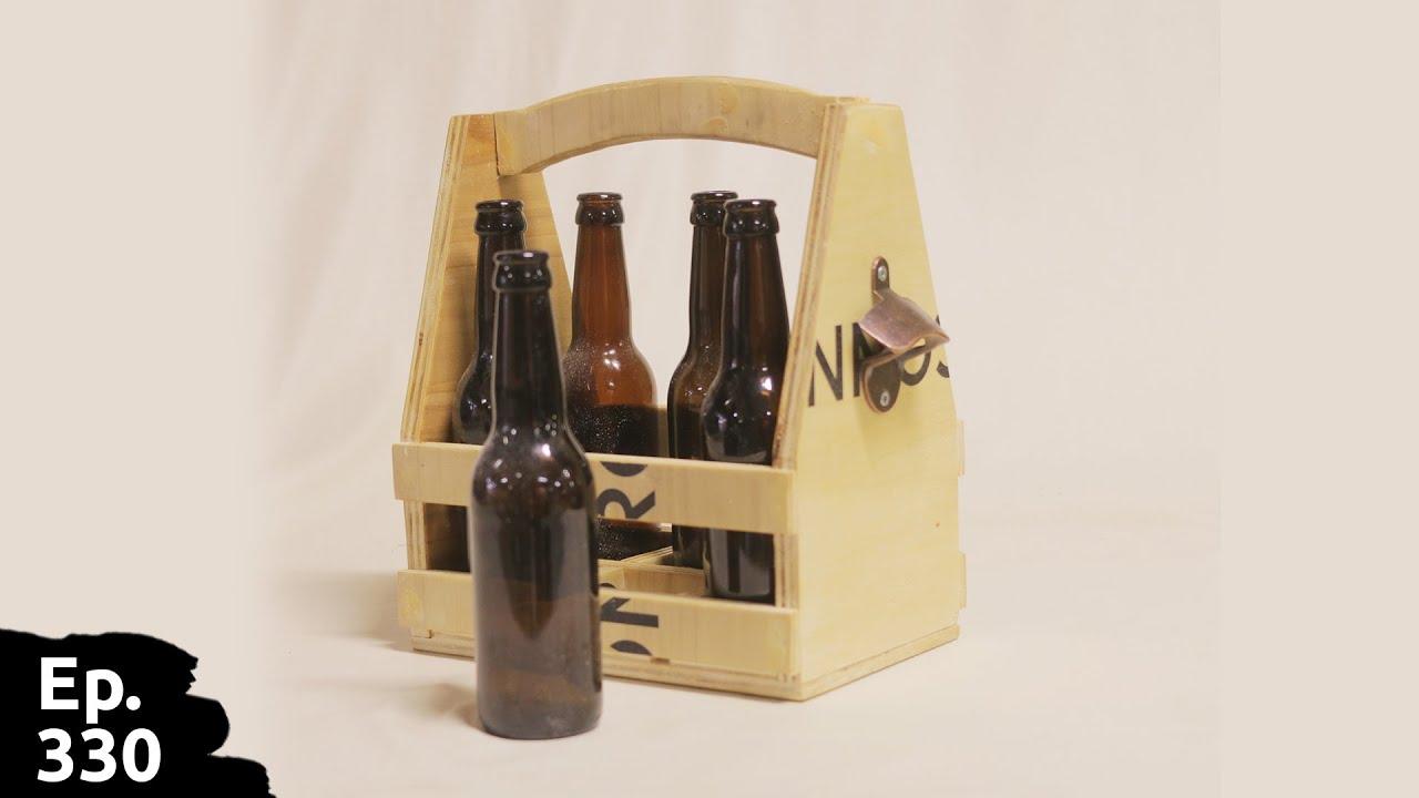 un super caisse / caddie à bière (avec décapsuleur intégré) en bois recyclé [kit dispo] - Ep330
