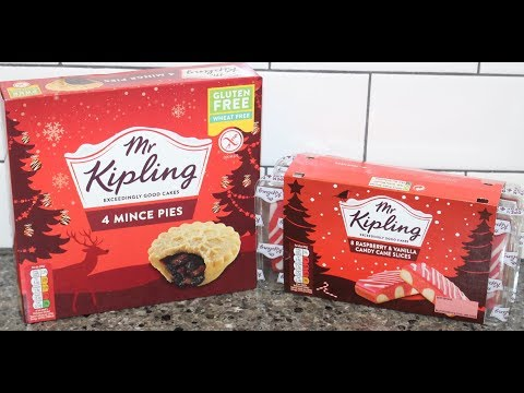 Mr. Kipling: Mince Pies and Raspberry & Vanilla Candy Cane Slices Review