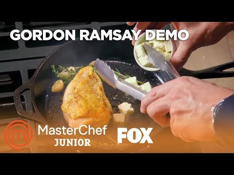 Gordon Ramsay Demonstrates How To Cook A Perfect Chicken Breast | Season 6 Ep. 2 | MASTERCHEF JUNIOR