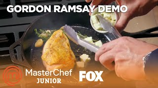 Gordon Ramsay Demonstrates How To Cook A Perfect Chicken Breast | Season 6 Ep. 2 | MASTERCHEF JUNIOR