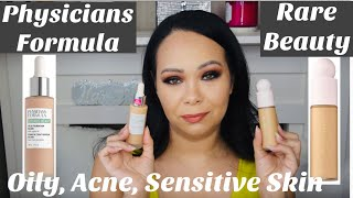Rare Beauty Foundation vs Physicians Formula Organic Wear (for oily, acne-prone, sensitive skin)