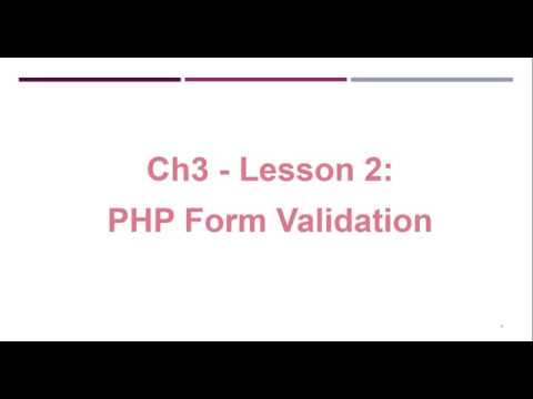 Episode 25  PHP Form Validation In Amharic