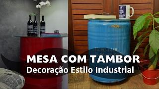 Mesa Feita com Tambor – Decoração industrial