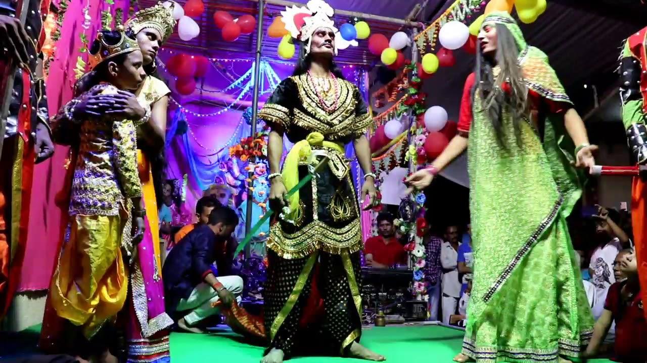होलिका दहन   stage live act   Maha Durga Mitra Mandal