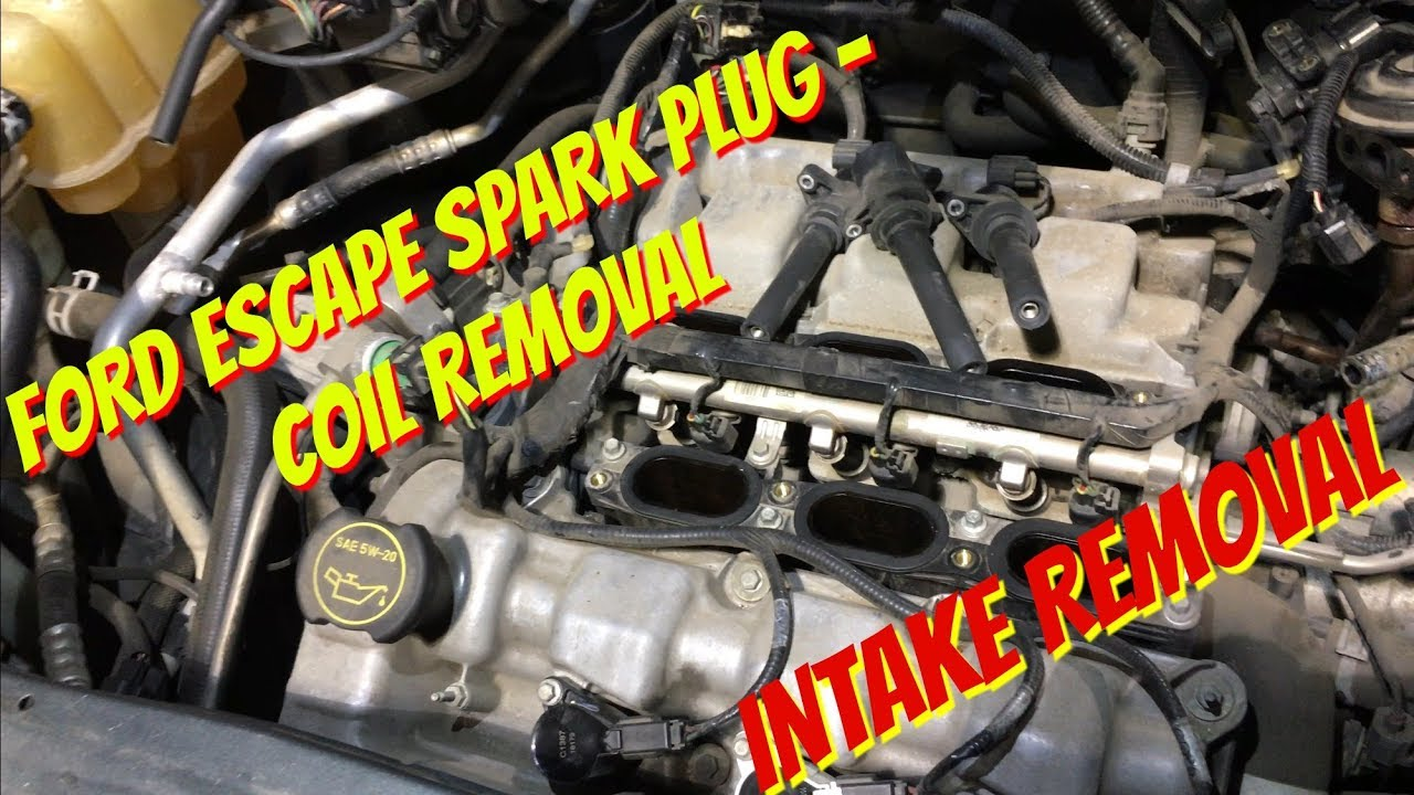 Ford Escape 3 0 Spark Plug Coil Replacement Intake Removal Youtube