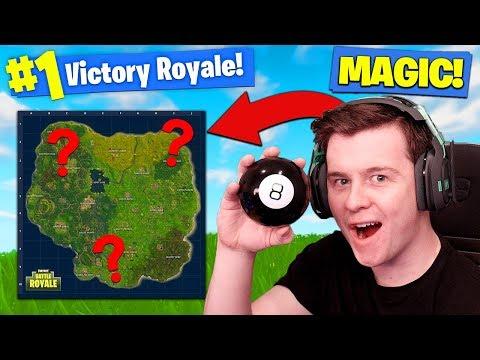 Using MAGIC 8-BALL TO *WIN* Fortnite Battle Royale!