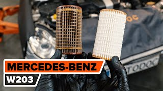 Fitting Oil Filter MERCEDES-BENZ C-CLASS (W203): free video