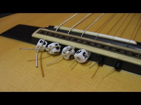 Грамота - гитаристам. Крепление струн классической гитары.