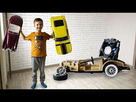 Марк и сборник серий для детей про машинки конструкторы.