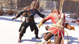 Assassin's Creed 3 Remastered Arno Dorian Hidden Blade Rampage & French Sword Combat Gameplay