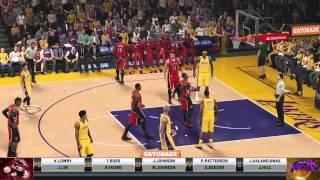 NBA 2K15: Toronto Raptors vs. LA Lakers | AVerMedia LGP 720p 30FPS PC-Free Mode