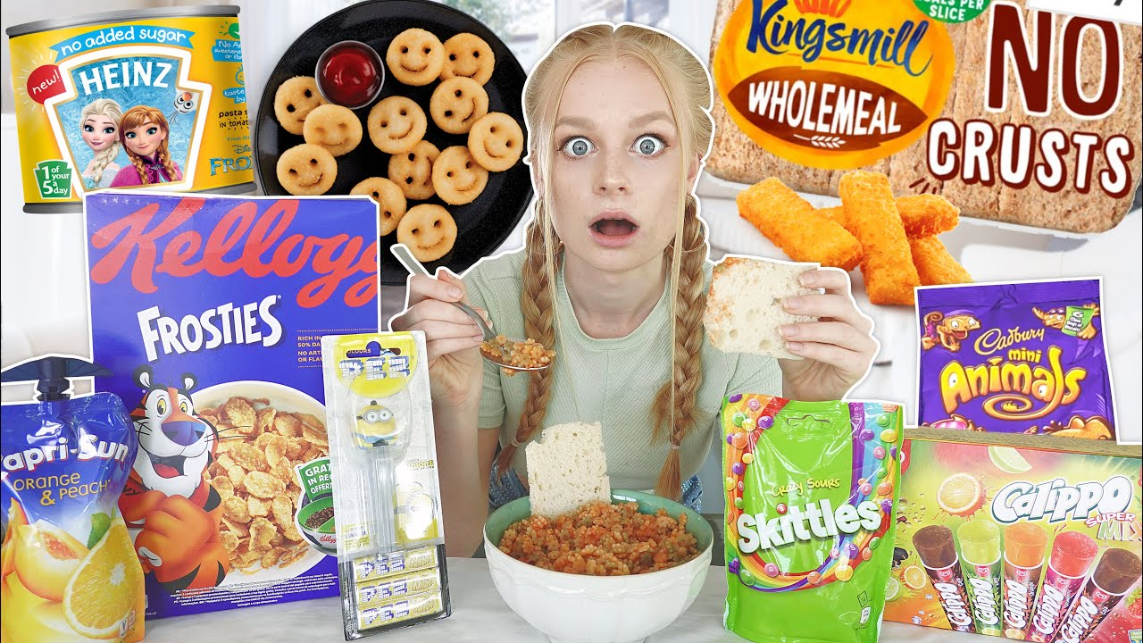 I ONLY ATE CHILDHOOD FOODS FOR 24 HOURS...