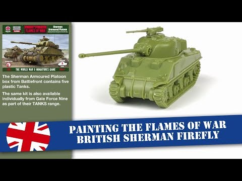 Painting a 15mm Flames of War TANKS Sherman Firefly tank