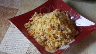 Домашние видео рецепты - рис с овощами в мультиварке