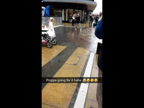 Middlesbrough homeless man dancing to live music