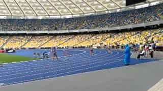 Дарусик в финале чемпионата Украины по легкой атлетике в беге на 400 метров, Киев 4 июня 2014 г.