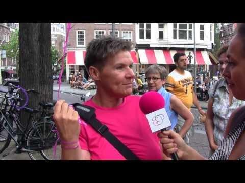 ProGay TV @ lesbische wandeling door A'dam
